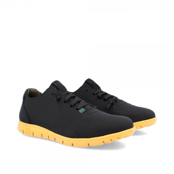 SNEAKERS MORVI BLACK-OCHRE