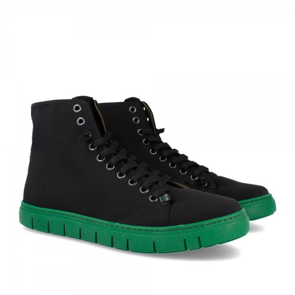 BOTINES BRUSTER BLACK-GREEN