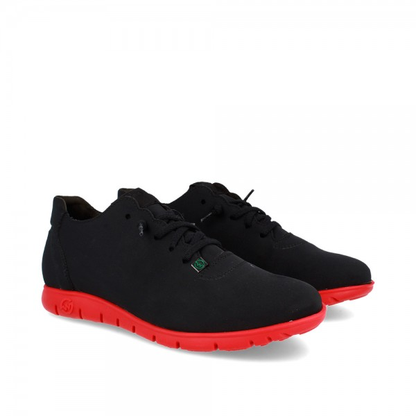 SNEAKERS MORVI BLACK-RED