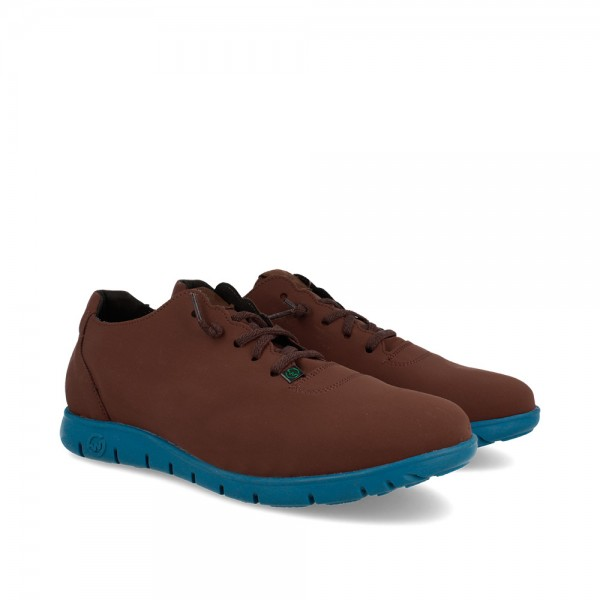 SNEAKERS MORVI BROWN-METAL...