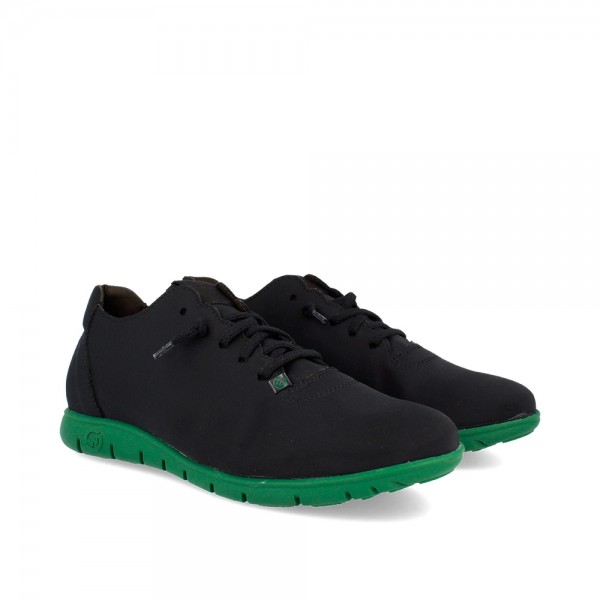 SNEAKERS MORVI BLACK-GREEN