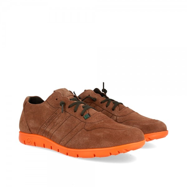 SNEAKERS MORVI TAUPE-ORANGE