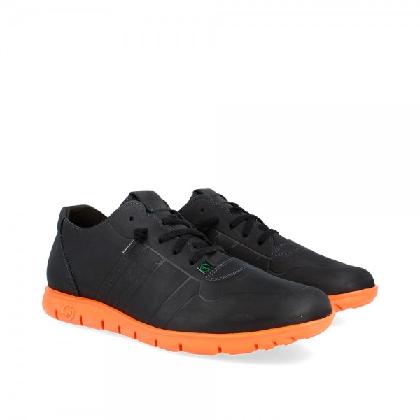 SNEAKERS MORVI BLACK-ORANGE