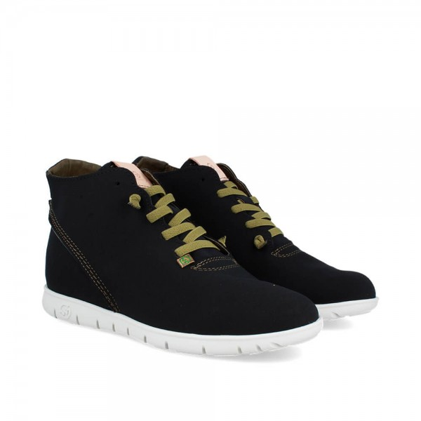 SNEAKERS MORVI-UP BLACK-WHITE