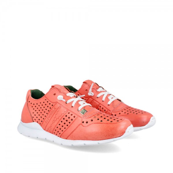 Sneakers Helios Coral-Blanco