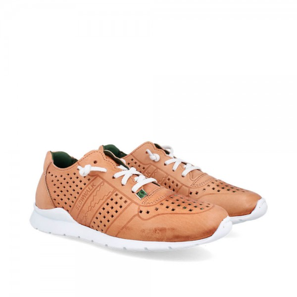 Sneakers Helios Camel-Blanco