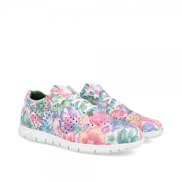 Sneakers Morvi Flower-Blanco